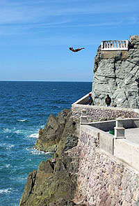 Cliff Diver in Mazatlan