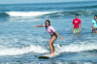 Surfing in Mazatlan