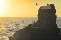 Mazatlan Cliff Divers at Sunset