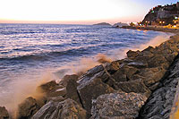Mazatlan Coastline at Sunset