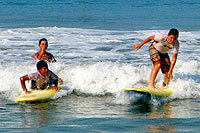 Surfing in Mazatlan Mexico